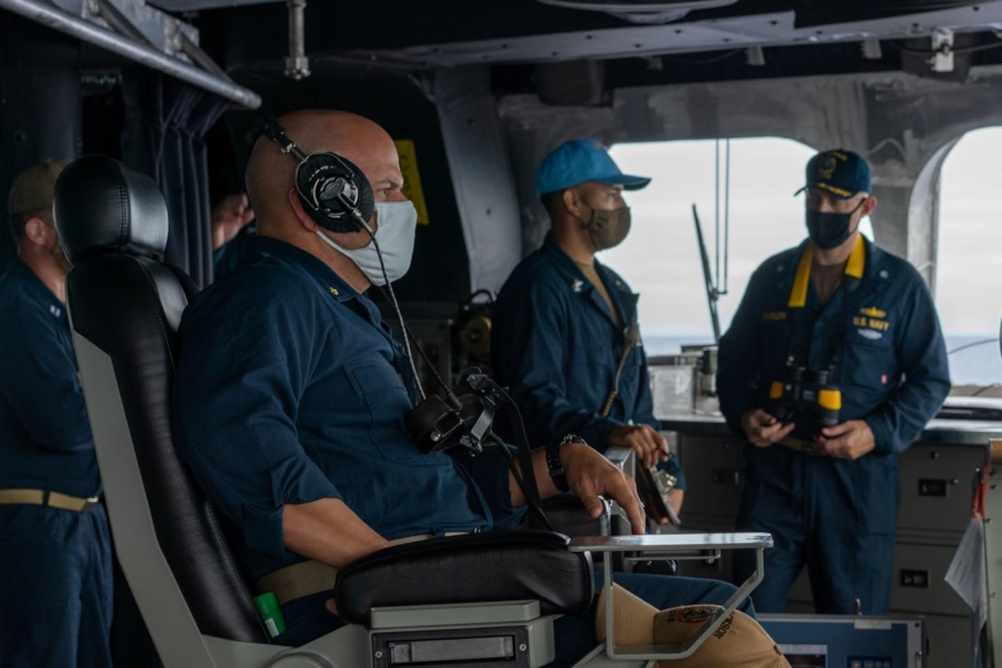 USS Jackson (LCS 6) Sailor Stands Watch