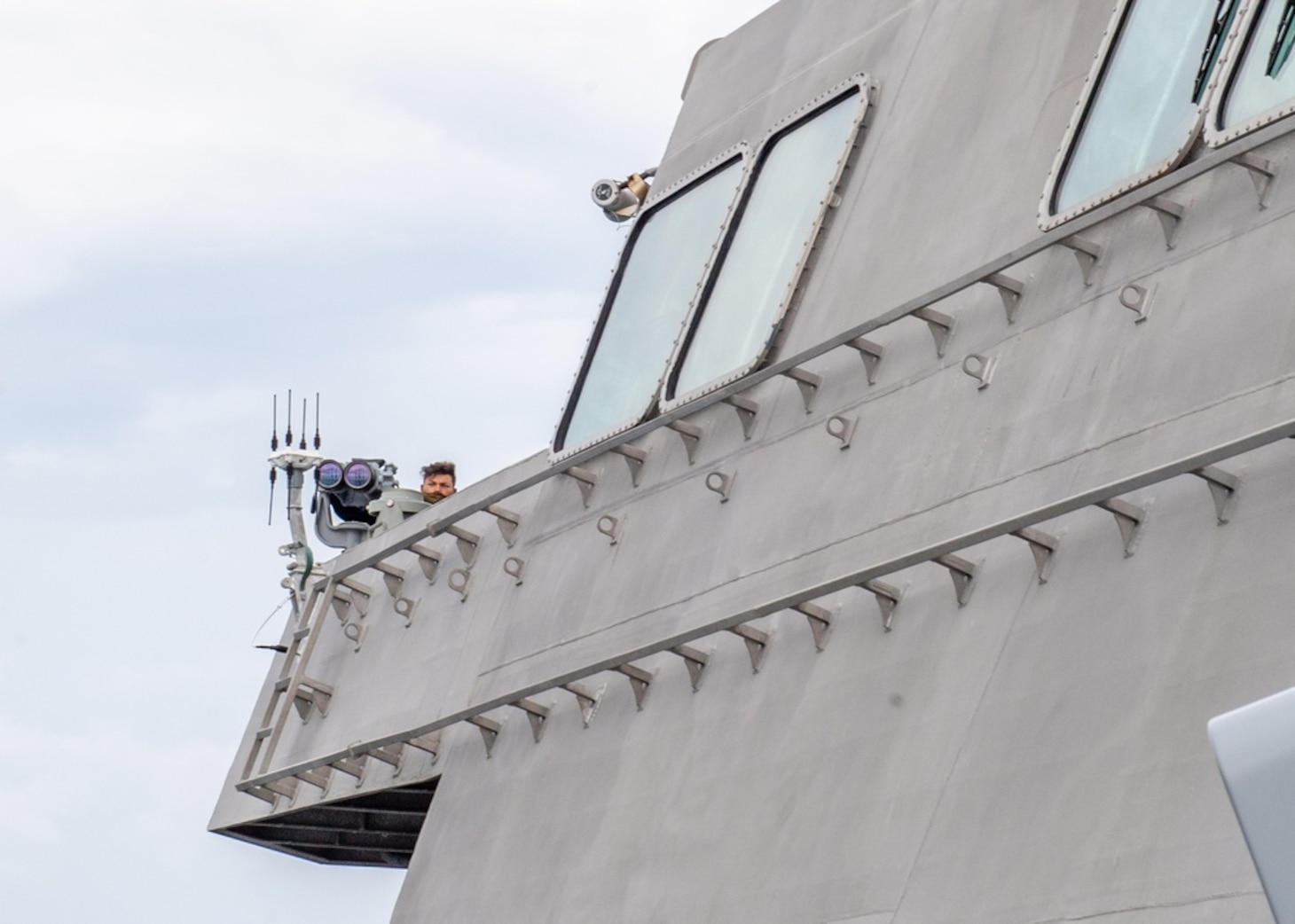 USS Charleston Sailors Stand Watch