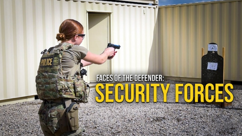 """Thumbnail for """"Faces of the Defender: Security Forces"""" video."""