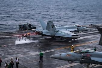 USS Carl Vinson (CVN 70) conducts flight operations.