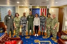 CNO Hosts Senior Indian Navy Officers aboard USS Carl Vinson during Malabar