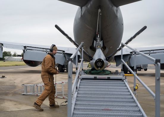 The 100th AMXS ensures the KC-135 is able to provide rapid global mobility and aerial refueling capability to the U.S. Air Force and NATO partners and allies.