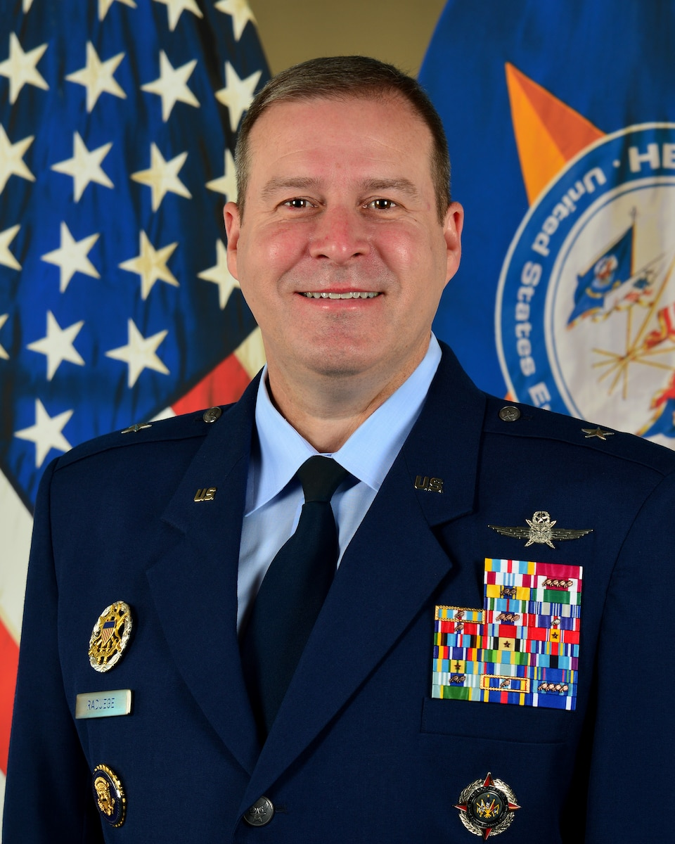 This is the official photo of Brig. Gen. Chad D. Raduege.