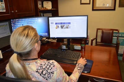 Photo By Lori Newman | Elaine Sanchez explores the new MHS GENESIS Patient Portal at Brooke Army Medical Center, Joint Base San Antonio-Fort Sam Houston, Texas, Oct. 6, 2021. The San Antonio Market will transition to the new electronic health record system – known as MHS GENESIS – in January 2022. (U.S. Army Photo by Lori Newman)