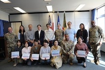 USAG Japan recognizes Air Force unit for their help with Army's budgetary mission