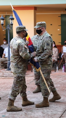 Col. Carlos Caceres assumes command of the Caribbean geographic command