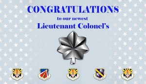Congratulations to the 944th Fighter Wing Lt. Col. selects. (U.S. Air Force Graphic/Master Sgt. Courtney Richardson)