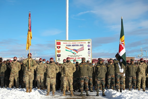U.S. and Indian Army kick off exercise in Alaska