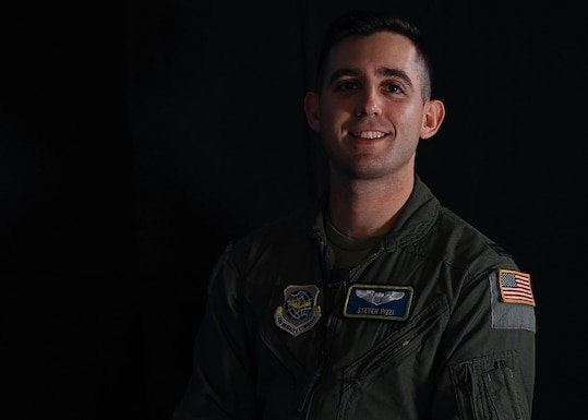 U.S. Air Force Capt. Steven Pizzi, C-17 instructor pilot with the 7th Airlift Squadron, was an aircraft commander during Operation Allies Refuge in August 2021. Pizzi and his crew contributed to the more than 124,000 people and more than five million pounds of cargo airlift from Afghanistan. (U.S. Air Force photo by Senior Airman Zoe Thacker)