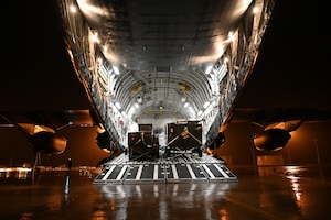Photo of cargo on a U.S. aircraft
