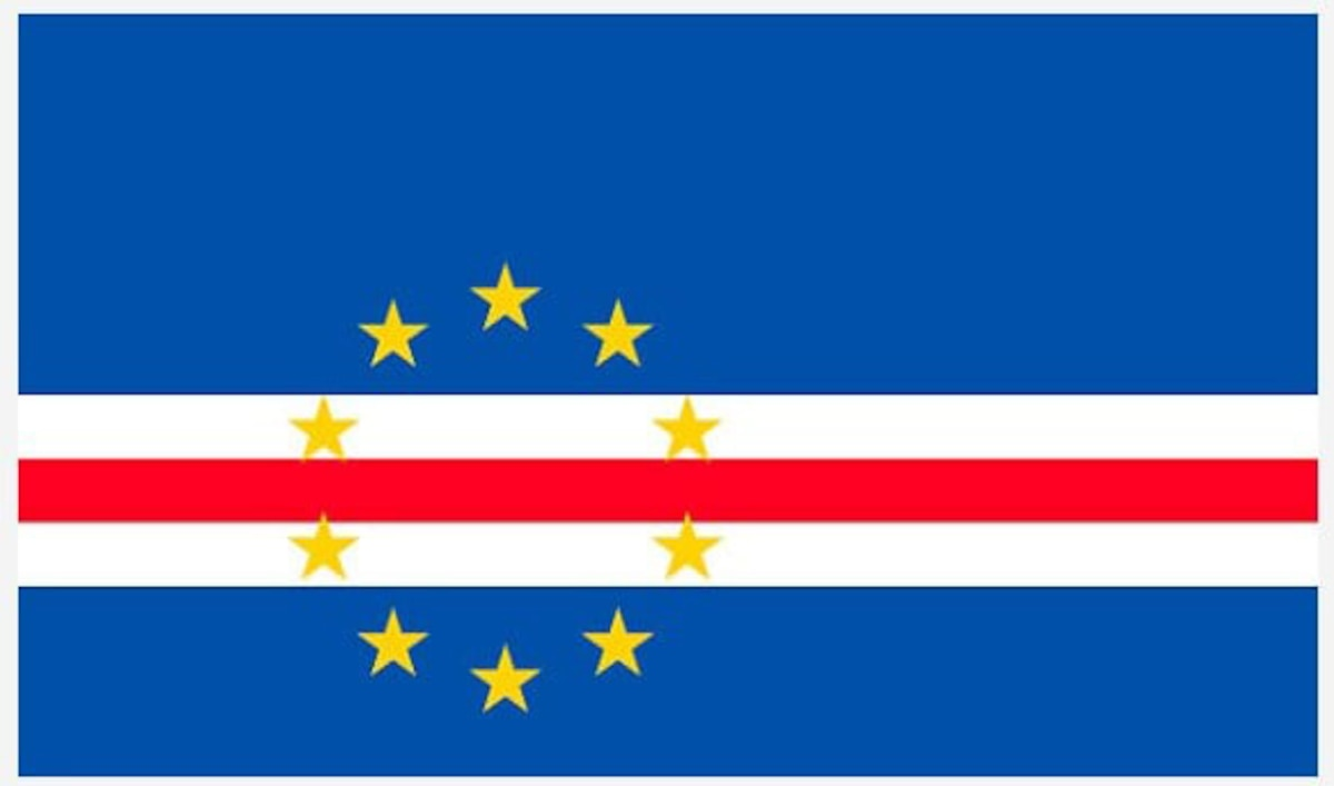 The Republic of Cabo Verde national flag, an archipelago in the Atlantic Ocean off the northwestern coast of Africa. The New Hampshire National Guard announced Oct. 18 it has been selected as the new state partner for the Republic of Cabo Verdea as part of the National Guard Bureau's State Partnership Program, which promotes mutual allied support for strategic national and global defense.