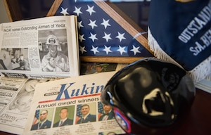 """Before U.S. Air Force Col. Benjamin Hatch became the Office of Special Investigations Wing commander supporting Pacific Air Forces, he was an enlisted Tactical Air Control Party Airman when he won PACAF's 1999 Airman of the Year. """"It meant so much to me just knowing the time it took for my supervisor to write the package,"""" Hatch remembered. """"My raters saw something in me that I never saw in myself and they really pushed me to be the best that I could be."""" (U.S. Air Force photo by Staff Sgt. Hailey Haux)"""