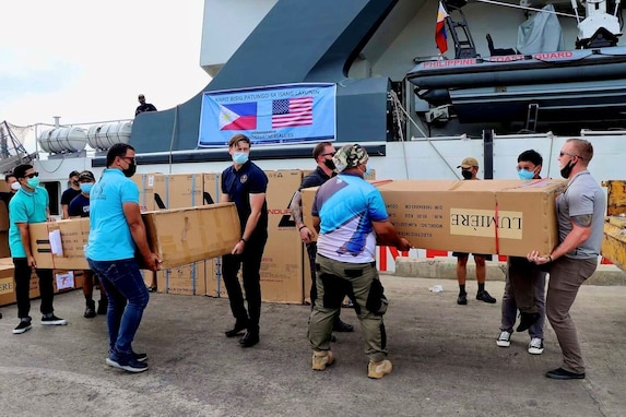 U.S. Military Donates Medical Supplies to COVID-19 Response in Palawan