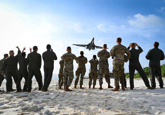 B-1B Lancers deploy in support of Pacific Air Forces' Bomber Task Force mission