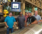 The newly acquired Computer Numerical Controlled (CNC) Submerged Arc Welder (SAW) arrived at Norfolk Naval Shipyard thanks to support from individuals from Code 926, Code 930, Code 981, and Code 138.