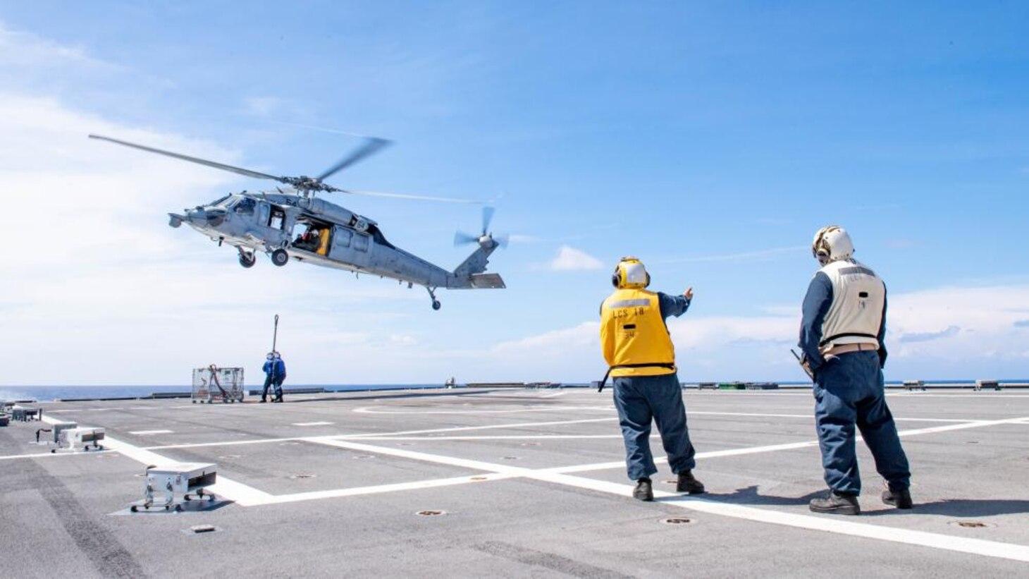 USS Charleston Sailors Conduct Vert Rep