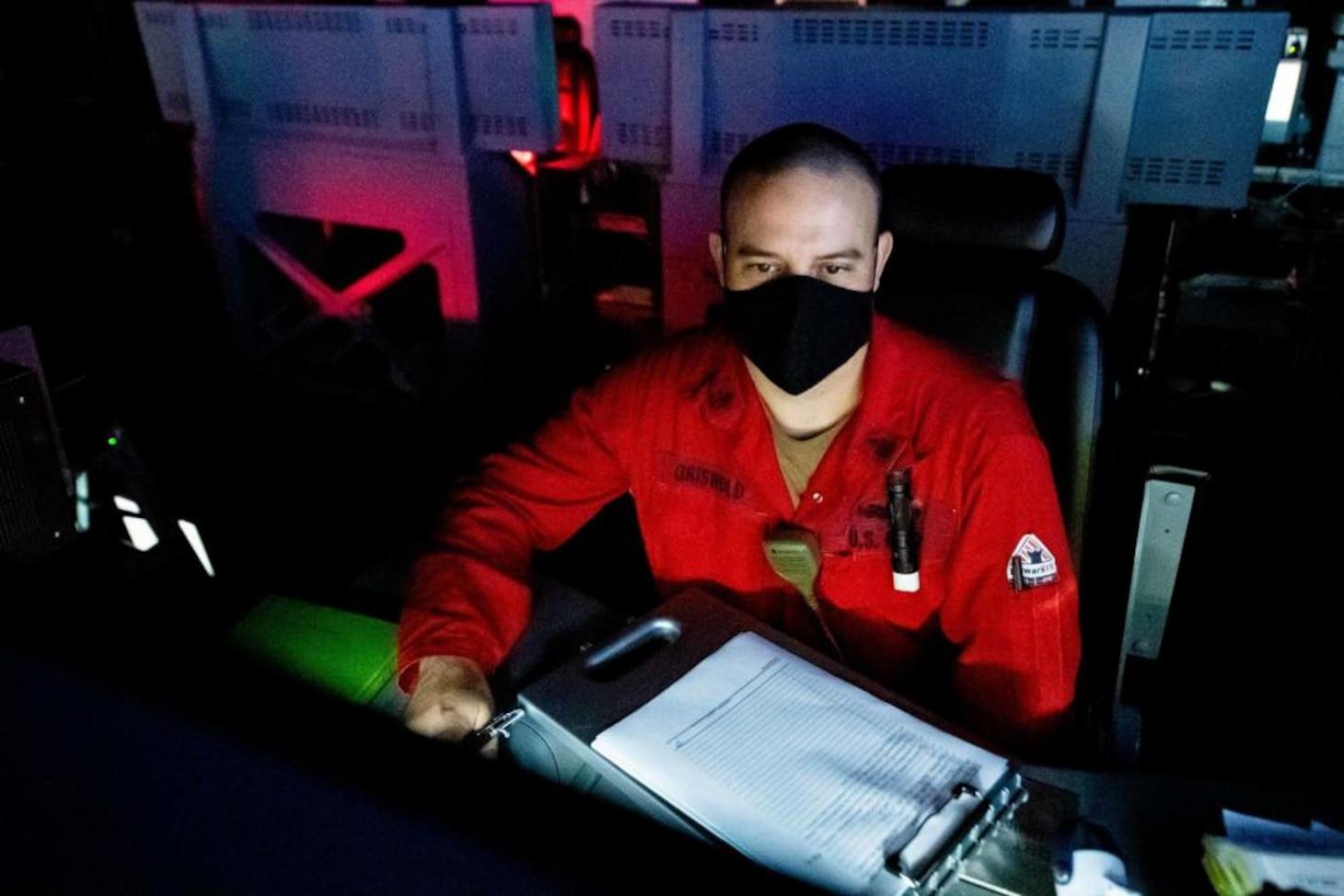 USS Charleston Sailor Stands Watch