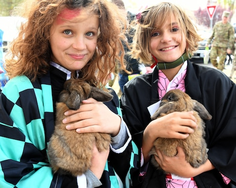 girls and bunnies