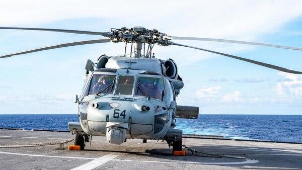 USS Charleston Conducts Flight Operations
