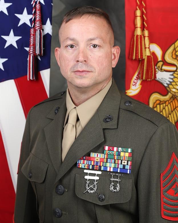 Bio photo for SgtMaj Radel of the Marine Corps.