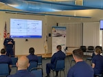 Photo of Coast Guard personnel attending a Mentoring Program information session