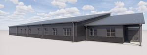 Rendering of the 325th Fighter Wing's future Sexual Assault Prevention and Response Facility. (Courtesy Asset)