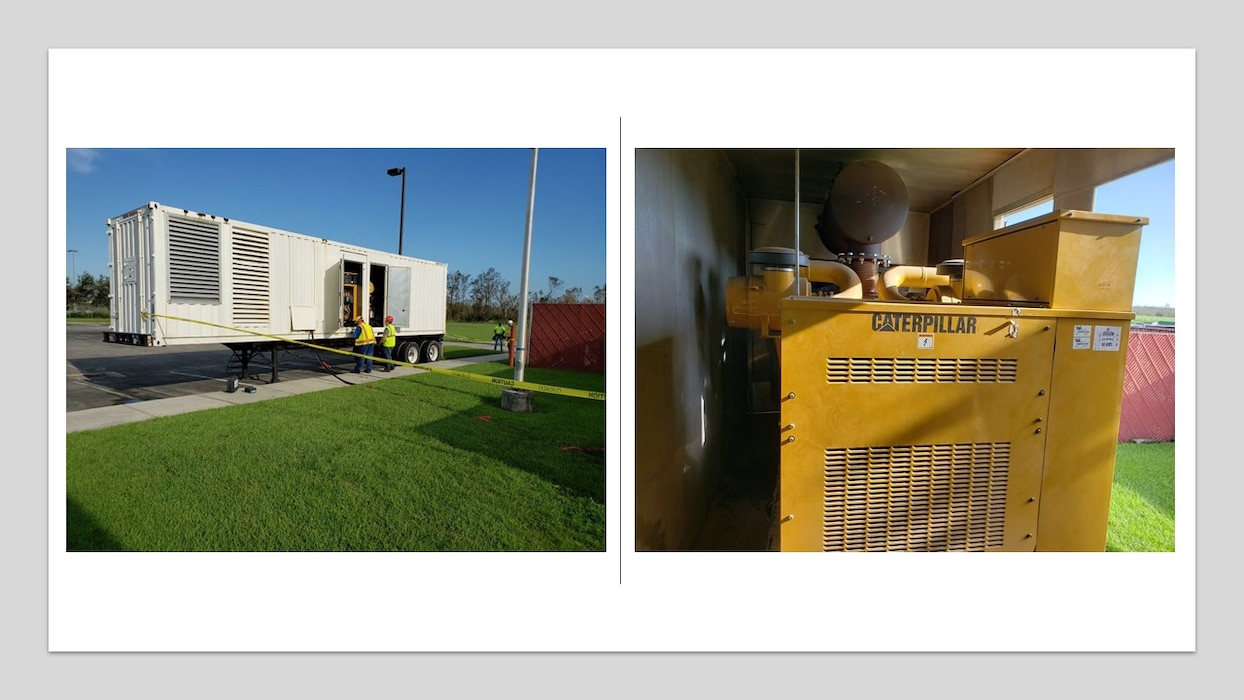 The first Hurricane Ida FEMA Emergency Generator installed August 31, 2021 at Southeast Louisiana Veterans Home in Reserve, LA.