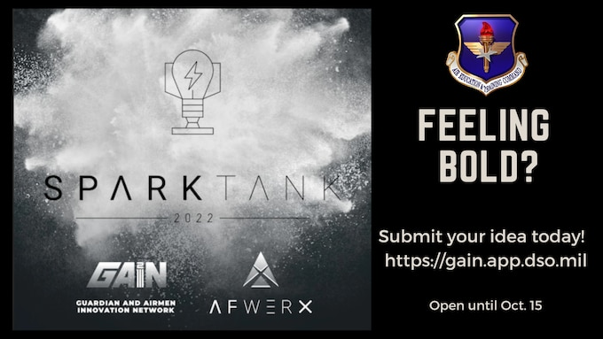 Spark Tank logo exploding out of black background