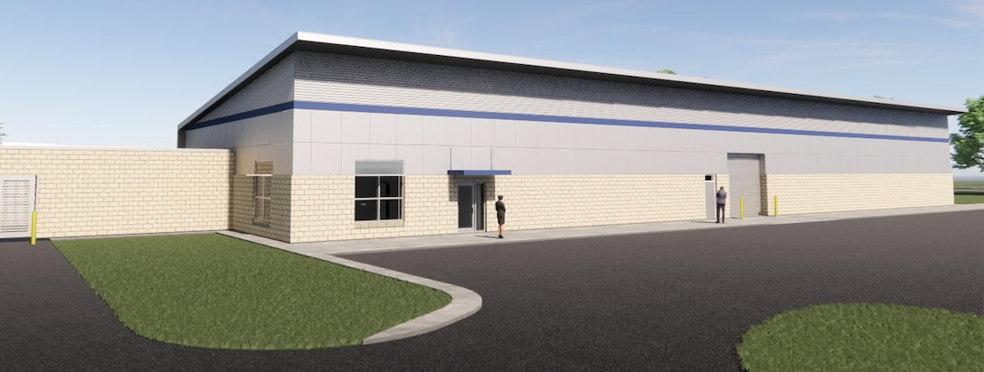 Rendering of 325th Security Forces Mobility Facility. (Courtesy Asset)
