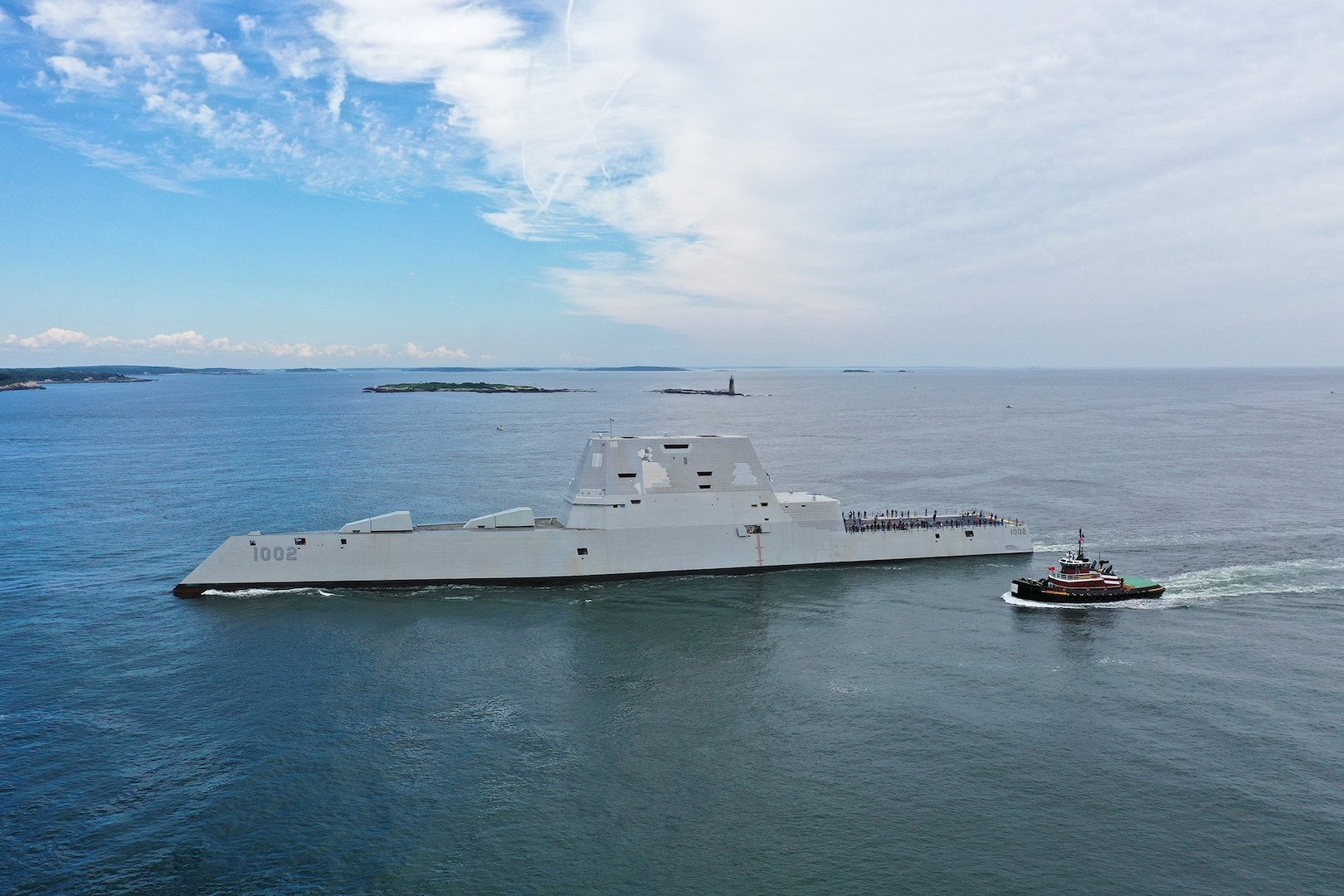 The future USS Lyndon B. Johnson (DDG 1002) recently conducted Builder's Trials. The future USS Lyndon B. Johnson is the third and final ship in the Zumwalt-class of guided missile destroyers and will provide multi-mission offensive and defensive capabilities to the fleet.