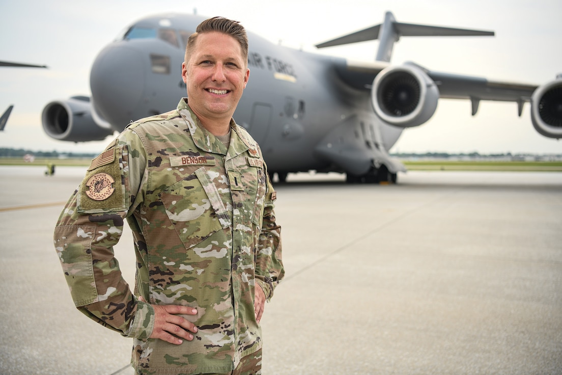 1st Lt. Ryan Benson, 89th Airlift Squadron operations manager/executive officer, is the 445th Airlift Wing September 2021 Spotlight Performer