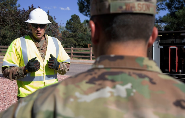 Airmen discuss the important of safety