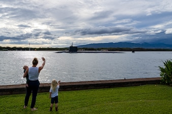 USS Missouri (SSN 780) departs Joint Base Pearl Harbor-Hickam for a scheduled deployment to the U.S. 7th Fleet area of responsibility.
