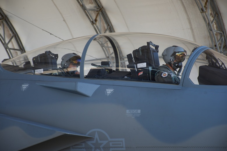 """Gen Mark Kelly, Commander of Air Combat Command, prepares for his F-15EX qualification flight in tail """"002"""" after completing the requisite academic and simulator training at Eglin Air Force Base, Fla, Sept. 1, 2021. A fighter pilot with over 6,000 hours in multiple aircraft, Gen Kelly is now one of two pilots in the world who've flown both the F-15EX and F-35A. (U.S. Air Force photo by 1st Lt Lindsey Heflin)"""