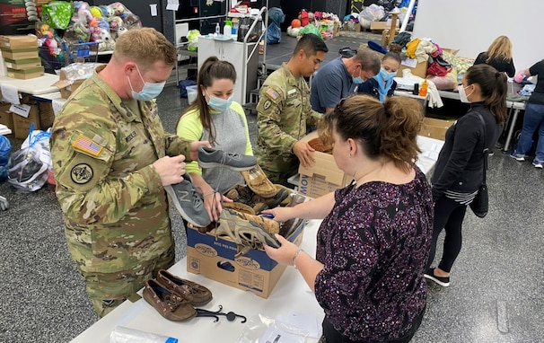 Katie Weschler, the spouse of Maj. Leonard Weschler, arrived at Army Field Support Battalion Mannheim, 405th AFSB, in July.