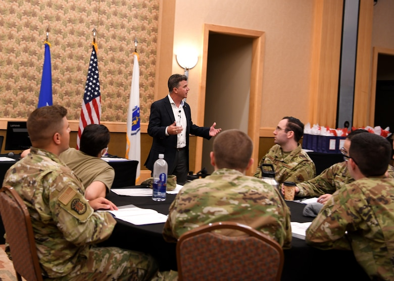Attendees at The 2021 Technical Sergeants Involved and Mentoring Enlisted Airmen Conferenece spent the week focusing on leadership development, including discussing resiliency, emotional intelligence, physical fitness, leading generations, and more.  The TIME Conference was hosted by the Massachusetts Air National Guard at the Southbridge Conference Center, Southbridge Massachusetts August 16 - 20, 2021.   (U.S Air National Guard Photos by Master Sgt. Lindsey S. Watson)