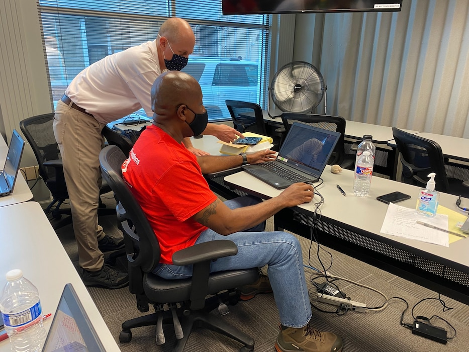 USACE employees who have volunteered to help with Hurricane Ida recovery efforts attend a Quality Assurance Course at USACE's Readiness Support Center in Mobile, Alabama.