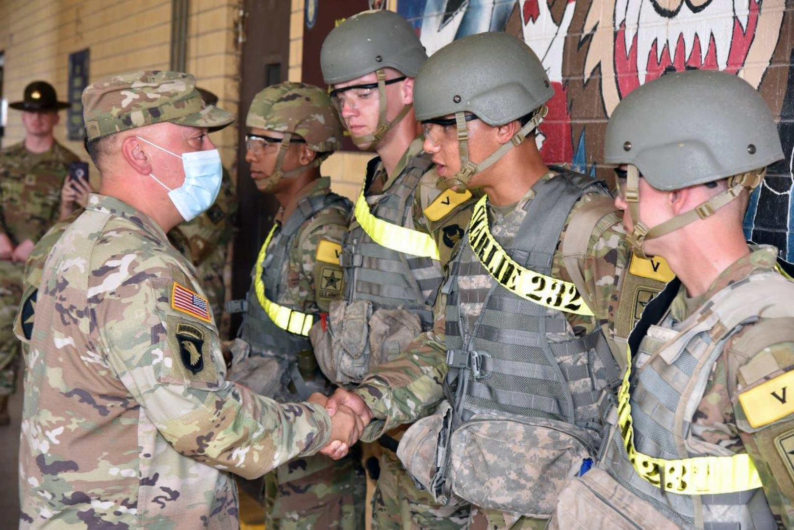 AIT Soldiers, former combat medic come to aid of fallen retiree at Fort Sam Houston Exchange
