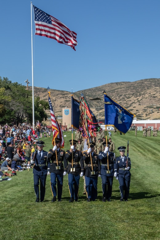 Color Guard marching