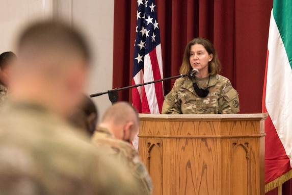 1st TSC CG, Soldiers mark Women's Equality Day at Camp Arifjan event
