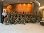 U.S. National Guard Soldiers and Airmen from 13 states pose together following a Comprehensive Health and Wellness Leaders Course, held July 25-30, 2021, at the Army National Guard Readiness Center in Washington, D.C. (Courtesy Photo)