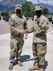 207th DLD leadership with Brig. Gen. D'Costa in June 2021