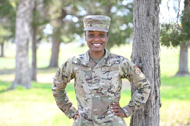 Senior Airman Lelauni Sanders, Air Force Sustainment Center Contracting Directorate, pictured here Aug. 23, 2021, at Hill Air Force Base, Utah