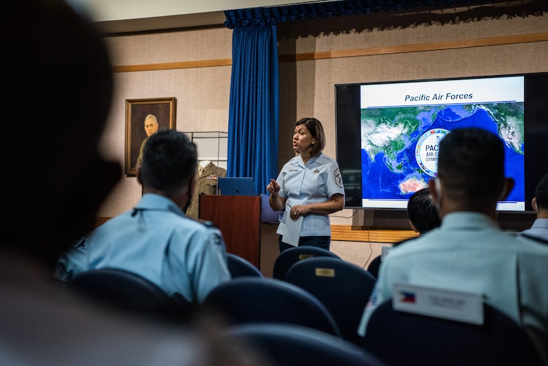 Photo of a U.S. Air Force leader providing opening remarks