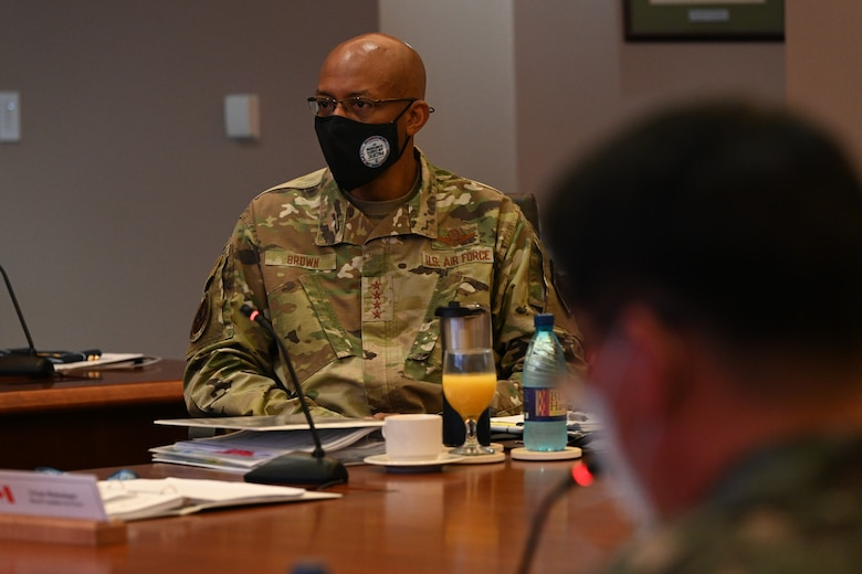 Photo of a US Air Force General during a symposium