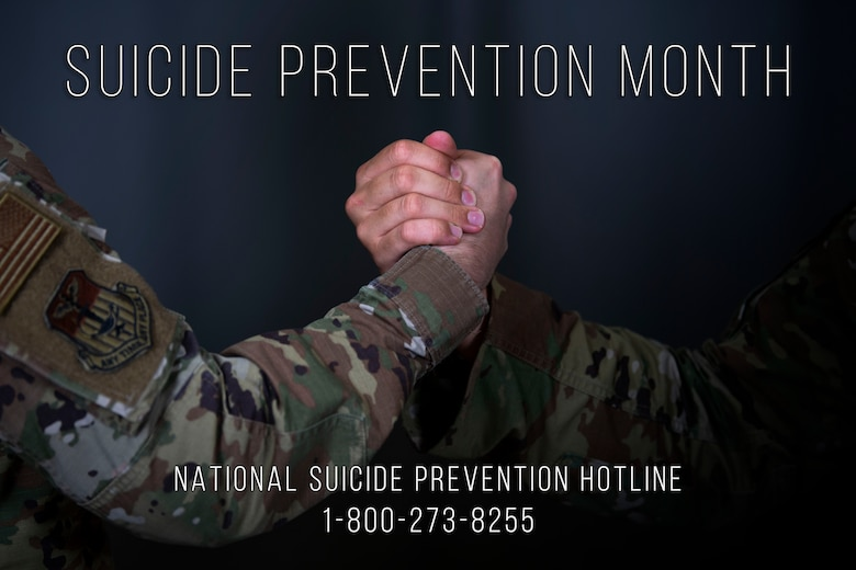September is Suicide Prevention Month, with September 5 through 11 marking National Suicide Prevention Week. While it is every Airman's duty to watch out for their wingmen, it is also important for Airmen to understand the vast amount of resources available to them if they are experiencing their own personal crisis. (U.S. Air Force photo illustration by Tech. Sgt. Victor J. Caputo)