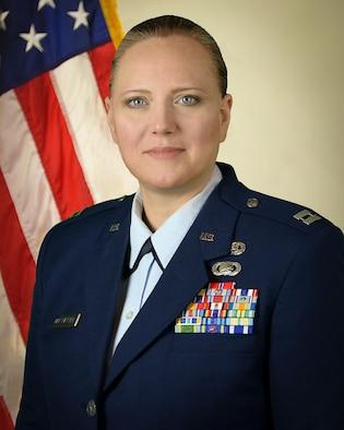 Official Photo for 44th Fighter Group Maintenance Squadron Logistics Officer Capt. Elizabeth L. Van Patten.