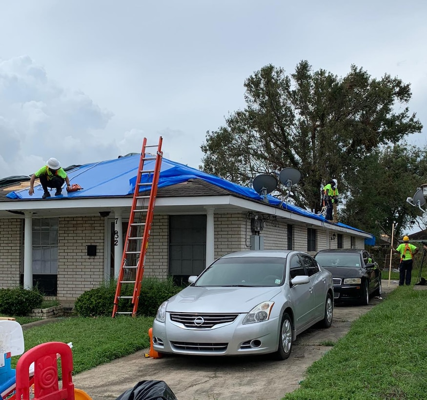 The first blue roof installation occurred on September 8, 2021 in Orleans Parish in response to Hurricane Ida.