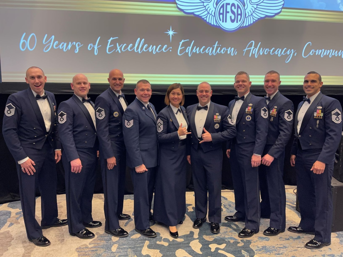 Master Sgt. James Zwiebel, of the 348th Recruiting Squadron officer accessions flight, receives the Air Force Sergeants Association's Award of Excellence at the at association's Professional Education and Development Symposium July 2021 in Orlando, Florida.