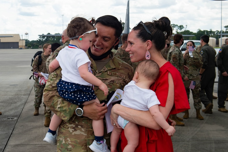 Photo of a military family together